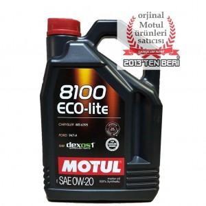 MOTUL 8100 ECO-LİTE 0W20 5 L GM DEXOS1 GEN 2 ONAYLI