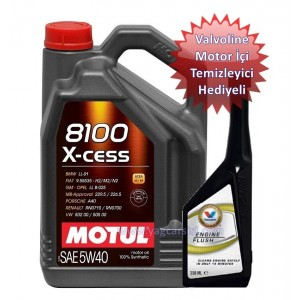 MOTUL 8100 X-CESS 5W40 5 L(SHELL MOTOR TEMİZLEYİCİ HEDİYELİ)