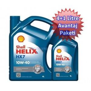 SHELL HELİX HX7 10W40 4+1=5 LİTRE AVANTAJ PAKETİ