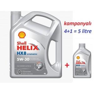 SHELL HELİX HX8 5W30 4+1 LİTRE KAMPANYALI