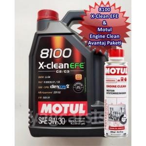 MOTUL 8100 X-CLEAN EFE 5W30 4 LİTRE C2/C3 DPF